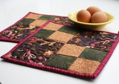 Four Patch Handmade Quilted Potholders