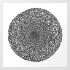 Circle - Semi circles Art Print by Trashdesign - $18.00