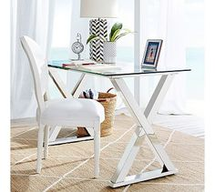 Ava Metal Desk #potterybarn  I love everything about this look.