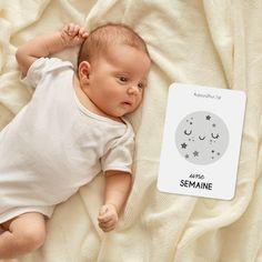 """Cartes étapes bébé, naissance. Souvenirs """"Ma première année"""", lot de 16 cartes étapes bébé mixte. Cadeau baby shower"""