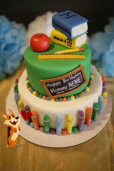 Teacher Themed Cake