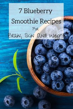 Blueberries are the low-calorie, high-fiber antioxidant rock star of berries. Plus, they taste awesome! We've created these 7 mouth-watering, super healthy and easy-to-prepare blueberry smoothie recipes for you that are good for your brain, skin and weight. #superdrinks #healthysmoothies #skincaresmoothies #healthysmoothierecipes #superfoods #weightlosssmoothies #blueberries #healthsmoothierecipes #healthydrinksrecipes #blueberrysmoothie #blueberrysmoothierecipes #brainfoods Vegan Blueberry Smoothie Recipe, Blueberry Banana Smoothie, Health Smoothie Recipes, Weight Loss Smoothie Recipes, Superfood Recipes, Healthy Smoothies, Oat Smoothie, Healthy Drinks, Detox Drinks