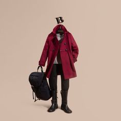Burberry coat made from Italian-woven cashmere