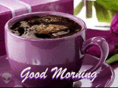 Good morning it's coffee time ~. Morning Coffee Images, Monday Morning Coffee, Happy Morning, Good Morning Good Night, Good Morning Quotes, Coffee Gif, Coffee Break, Coffee World, Food Gallery