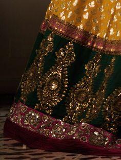 Banarasi Woven Lehenga with Zardosi and Sequin Work