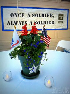 centerpieces for my husbands military retirement party ideas