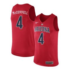 Men Arizona Wildcats  4 T.J. McConnell College Basketball Jerseys Sale-Red  Wildcats Basketball 197b0e1a1