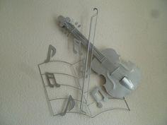 Metalen wanddecoratie muziekblad met noten, viool en strijkstok zilver - Muziek - METALEN WANDDECORATIE Huaraches, Nike Huarache, Sneakers Nike, Nike Tennis