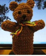 """Teddy Hand Puppet - Free Amigurumi Pattern - PDF File, click: """"Crochet_Toy_Teddy_Hand_Puppet.pdf"""" here: http://www.knit-a-square.com/node/41"""