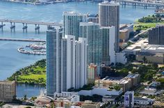Condos at Pace Park on Biscayne Bay north of the Venetian Causeway - Miami, Florida