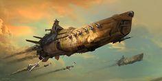 Concept spaceship art for Robota.