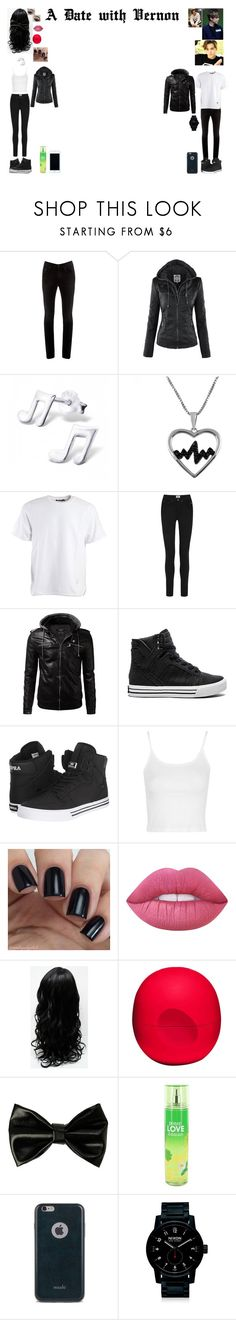 """""""A Date with Vernon (Seventeen)"""" by cadie605 ❤ liked on Polyvore featuring Acne Studios, Jewel Exclusive, Alexander Wang, Supra, Topshop, Lime Crime, Eos, Moshi, Nixon and Lilly Pulitzer"""