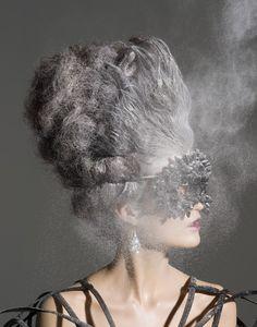 Marie Antoinette powdered wig hairstyle