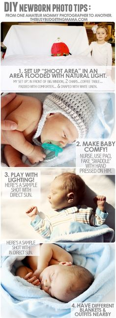 DIY Newborn Photo Tips- From one Amateur to Another