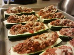 Amy's Stuffed Zucchini Boats! THIS IS MY ORIGINAL RECIPE THAT WAS PUBLISHED BY A PASTA SAUCE COMPANY!