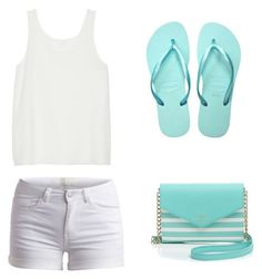 """"" by mabe2909 ❤ liked on Polyvore featuring Kate Spade, Chloé, Pieces and Havaianas"