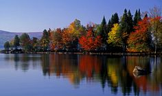 Rangeley Lake - Maine in the fall.