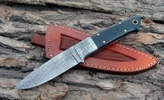 Handmade knife for sale Handmade Damascus... check it out here! http://s-a-knives.myshopify.com/products/handmade-damascus-steel-knife