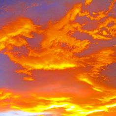 """""""Fire in the Sky"""" by Elandria (C)2018 - CC-SA-BY. Fire, Clouds, Sky, Celestial, Sunset, Photos, Outdoor, Heaven, Outdoors"""