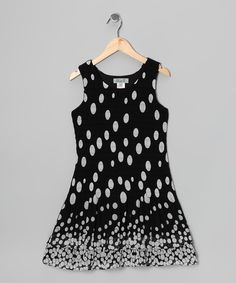This Black Connect The Dots Dress by Elisa B. is perfect! #zulilyfinds