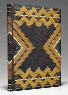 Pierre Legrain, book binding for Livres d'artistes, 1930. Paris. Via Christie's
