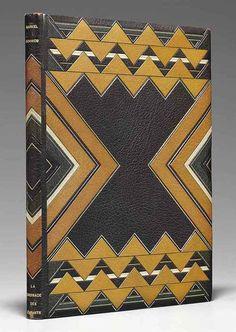 design-is-fine:  Pierre Legrain, book binding for Livres d'artistes, 1930. Paris. Via Christie's