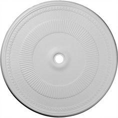 "Ekena Millwork Nevio 51.13""H x 51.13""W x 1.5""D Ceiling Medallion"