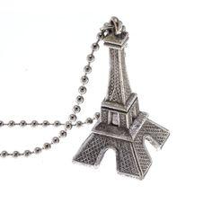 7f083081b Eiffel Tower - Silver Pendant Charm Necklace Heart Paris