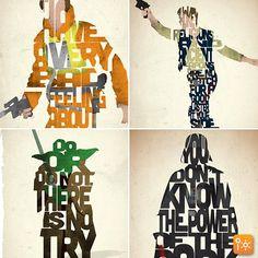 Tipografia inspirada em Star Wars #Tipografia #StarWars