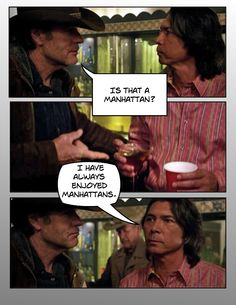 LONGMIRE: Henry (Lou Diamond Phillips) offers Walt (Robert Taylor) no further explanation in Party's Over…