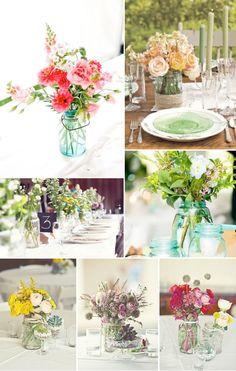 simple outdoor wedding ideas | Outdoor Country Wedding Ideas: Mason Jars | Get Married Ideas