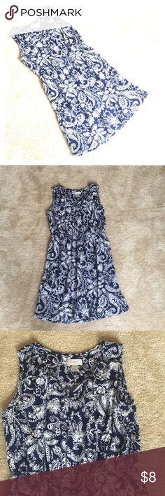 Blue and white loft dress Super lightweight. Elastic waist, sleeveless. LOFT Dresses