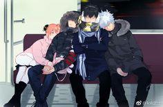 Sougo Okita x Kagura [OkiKagu], Gintama, Hijikata Toshirou, Samara Gintoki Anime Love Couple, Cute Anime Couples, Okikagu Doujinshi, Gintama, Another Anime, Neon Genesis Evangelion, Manga Games, Anime Ships, Anime Characters