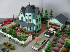 Victorian Dollhouse Neighborhood 1:144 Scale. $220.00, via Etsy.