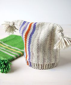 striped knit baby hat... Somebody feel free to make jake one :)