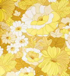 Wallpaper vintage retro decoupage Ideas for 2019 Motif Vintage, Vintage Patterns, Vintage Prints, Vintage Wallpaper Patterns, Retro Floral, Vintage Floral, Retro Vintage, Retro Flowers, Yellow Flowers