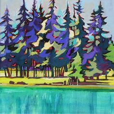 Daily Painting On the Wild Side contemporary landscape, painting by artist Carolee Clark