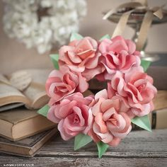 How to Make a Paper Rose Wreath | AllFreeDIYWeddings.com