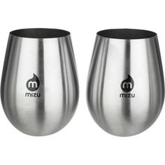 Great for backyard parties and sipping wine around the campfire, the Mizo Wine Cup Set is a portable solution for drinking wine without having to stoop so low as to use plastic cups. Its stainless steel construction offers a sleek and sophisticated appearance while ensuring a clean palate for enjoying delicious wines and chilled beverages.