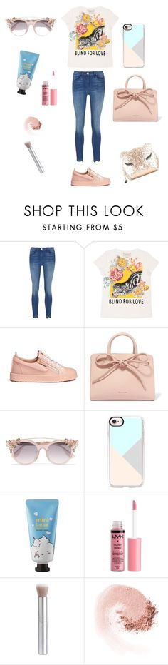 """Sem título #58"" by julioli ❤ liked on Polyvore featuring 3x1, Gucci, Giuseppe Zanotti, Mansur Gavriel, Jimmy Choo, Casetify, Sephora Collection, Charlotte Russe, rms beauty and NARS Cosmetics"