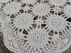 Vintage Table Runner Off White Cotton by RustbeltTreasures on Etsy
