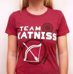 Women's Hunger Games Team Katniss TShirt Red by LHopDesigns, $20.00