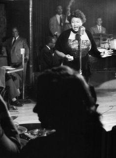 Ella Fitzgerald, New York, 1949, photo by Herman Leonard