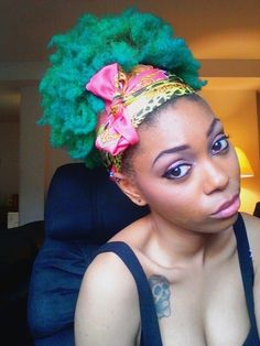 Candy-colored hair