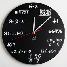 Math Quiz Clock Black, $21, now featured on Fab.com. Holy cow! Is this crazy or what? We'd probably always be late to open at This  That Gifts because we'd still be doing the math, but this definitely caught our eye :-)