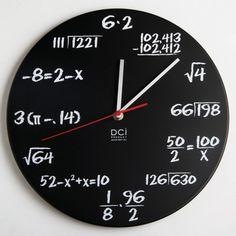Math Quiz Clock. Great husband gift!