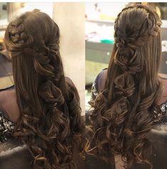 Cute Hairstyles For Medium Hair, Open Hairstyles, Bride Hairstyles, Medium Hair Styles, Bridal Hair Buns, Bridal Hairdo, Engagement Hairstyles, Wedding Hairstyles For Long Hair, Historical Hairstyles