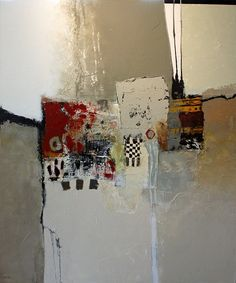 """John Hyche - """"Reluctance"""", mixed media on canvas, 48"""" x 60"""""""