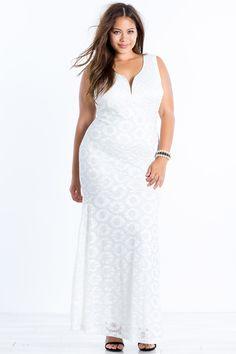 LWD - Gigi Glam Lace Mermaid Maxi Dress #plussizefashion #dress #spring Trendy Plus Size Fashion, Trendy Plus Size Clothing, Plus Size Maxi Dresses, Plus Size Outfits, Formal Dresses, Lace Mermaid, Dressy Outfits, White Fashion, Plus Size Women