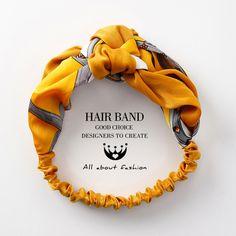 Only US 5 35 shop womens vogue comfortable headband printting hair band at Buy fashion hats online - Banggood Mobile Fabric Headbands, Elastic Headbands, Fabric Headband Tutorial, Turban Headbands, Handmade Headbands, Headband Pattern, Headband Styles, Knot Headband, Hair Loop